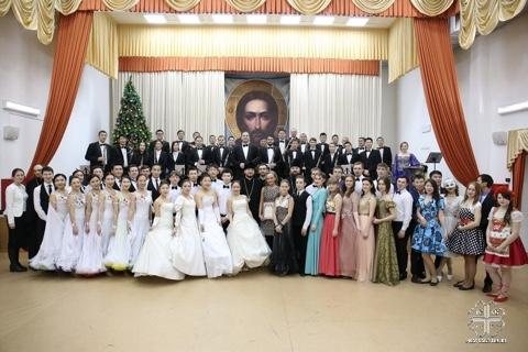 Студенты духовной семинарии и учебных заведений Якутска стали участниками первого Рождественского бала молодежи Якутской епархии