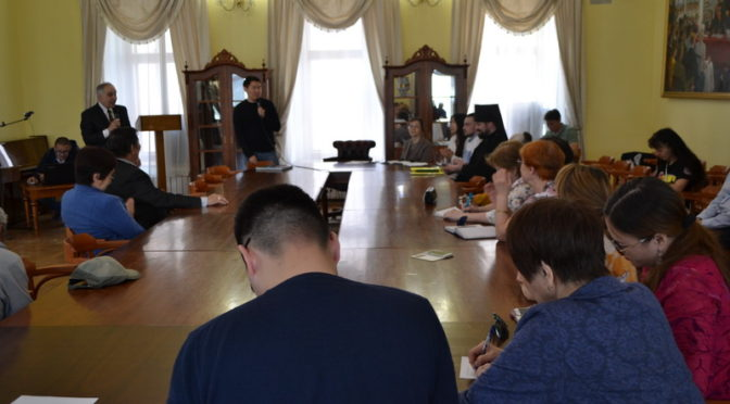 Ректор семинарии передал архипастырское благословение участникам мероприятия, посвященного 1000-летию присутствия русского монашества на Святой Горе