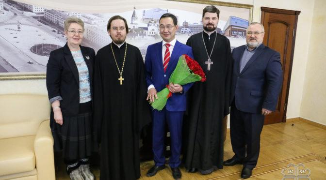 Якутский архипастырь поздравил главу города Якутска с юбилеем со дня рождения