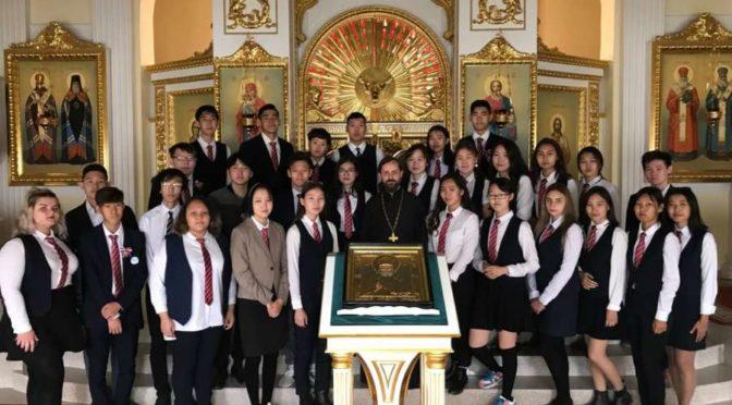 Ученики школы №5 города Якутска побывали на экскурсии в Якутской духовной семинарии