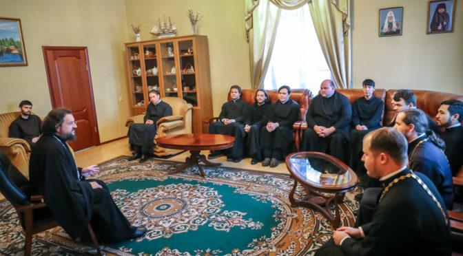 Владыка Ректор провёл совещание с преподавателями и студентами семинарии