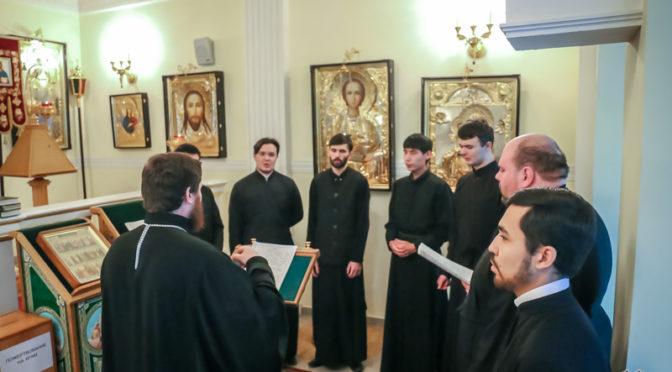 Ректор семинарии поздравил учащихся семинарии с Новолетием