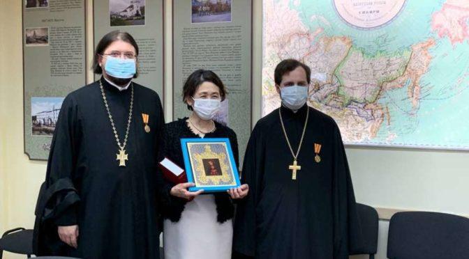 Якутскую духовную семинарию посетила японская художница Хироко Кодзуки, жена посла Японии в России